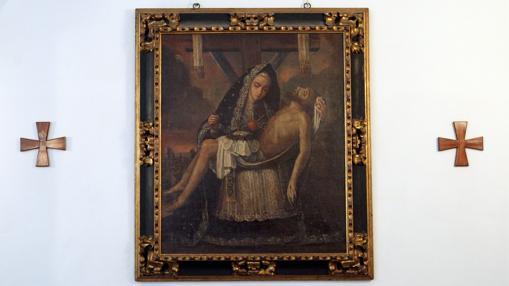 La Virgen de las Angustias, en un cuadro del siglo XVII
